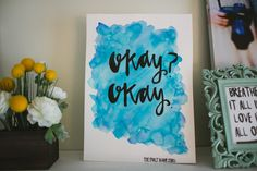 11x15 The Fault in Our Stars INSPIRED watercolor painting- okay okay on Etsy, $15.00
