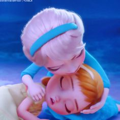 "*ELSA (The Snow Queen) & PRINCESS ANNA ~ Frozne, 2013....""It's ok Anna, I got you."" - Elsa"