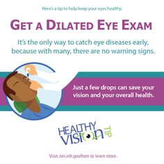 Happy Healthy Vision Month! We'll be focusing on 5 important aspects of eye health. The first one is dilated eye exams! Click to learn why they're so important.