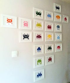 space invaders on my wall