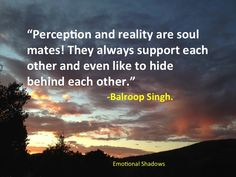 Perception and reality are soul mates. #quotes