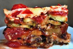 Low-CarbGrilled Veg Lasagna (no pasta).  LCHF  (Add a layer of ricotta in the centre! yum).