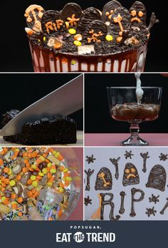 This Halloween candy graveyard is a chocolate candy explosion!