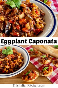 Italian Eggplant Caponata Recipe filled with delicious vegetables. Caponata is great on bruschetta, grilled meats, or tossed with pasta. #caponata #eggplantspread Easy Salad Recipes, Easy Salads, Brunch Recipes, Barbecue Recipes, Grilling Recipes, Cooking Recipes, Italian Dinner Recipes, Italian Appetizers, Eggplant Caponata