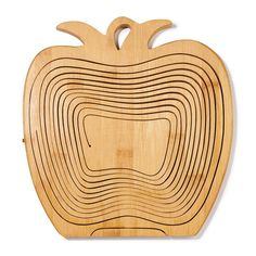 """Multifunctional as a fruit basket or collapses for other uses! Folds for easy storage. Collapsed, 11 3/4"""" L x 10 1/2"""" W x 3/4"""" H. Wipe clean. Wood. Imported. Contents not included. what a cute item for  autumn season. www.youravon.com/lalbrecht."""