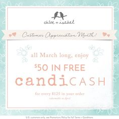 Happy Customer Appreciation Month! Earn $50 in future candi cash when you spend $125+ this March – contact me today for more info! Akua Ashley's Boutique - New York, NY | Chloe + Isabel https://www.chloeandisabel.com/boutique/akuaashley