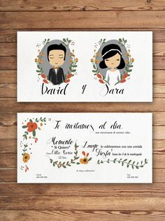 Invitación de boda de Un 6 y un 4 wedding illustration  #invitacióndeboda #boda #weddingillustration
