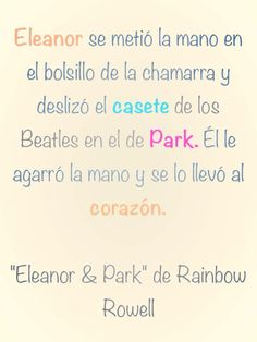 ''Eleanor & Park'' de Rainbow Rowell  Sigue esta historia también en Facebook: https://www.facebook.com/pages/Eleanor-Park/229350103898493?ref=stream #books #read #young #love #alfaguara #juvenil