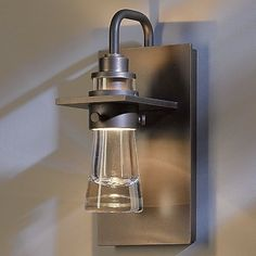 Erlenmeyer Outdoor Wall Sconce (Dark Smoke/Small) - OPEN BOX RETURN by Hubbardton Forge at Lumens.com