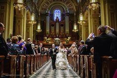 Down the Aisle | Basilica of St. Peter and Paul | Cescaphe Event | Hoffer Photography | Modern Philadelphia Wedding Photographers