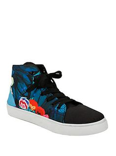 Disney Alice In Wonderland Hi-Top Sneakers, BLUE
