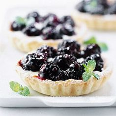 Lemon-Blackberry Mini Tarts When blackberries are in season, make these mini desserts. They're quick to put together.