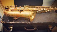 Vintage sax spotted in store!  #MyUniqueFinds
