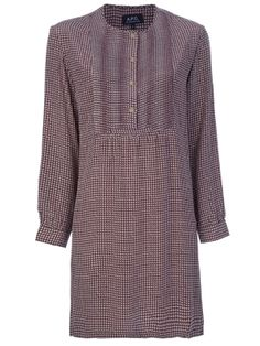 - Long Sleeve Dress by farfetch Perfect World, Apc, Wrap Dress, Tunic Tops, Dresses With Sleeves, Long Sleeve, Clothing, Pattern, Women