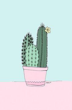 ~ print: cactus illustration (published via Behance by Irene Cabrera, 2014.)
