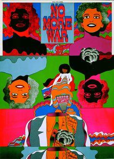 Japanese Poster: No More War. Keiichi Tanaami. 1967. - Gurafiku: Japanese Graphic Design