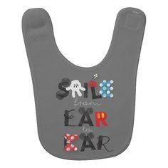 Mickey Mouse | Smile From Ear To Ear baby bib by Disney.