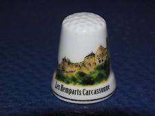 dé à coudre en porcelaine série atlas - les remparts carcassonne