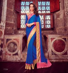Saree: Saree Fabric/Material: Crepe Jacquard  Saree Type: Saree With Blouse Saree Work: Printed Length of Saree: 5.5 Meters Blouse: Blouse Fabric/Material: Art Silk Length of Blouse: 80 Centimeter Additional Information: Occasion: Ceremonies, Festivals and Weddings Wash Care: Gentle Hand Wash - Dry Clean Recommended  Disclaimer: The image represents the actual product and it is provided as a reference to the product. However, product color may slightly vary due to photographic... - ...
