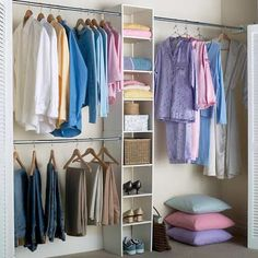 closet organization for the kids rooms...