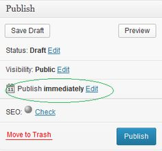 Publish Post even when you are Sleeping on your Blog