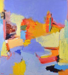 """http://briandavidsmith.com  Thurso - 2011  Oil on Canvas  58""""h x 52""""w - love the color"""