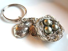 Special Teacher Handmade Keychain from A Cup of Sparkle, $35