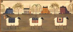 """Hey, I found this really awesome Etsy listing at http://www.etsy.com/listing/126531027/primitive-sheep-picture-plaque-art 12"""" long by 8"""" high"""