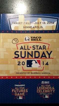 Day 11, Item 59, 29-July-2014.  Program from the 2014 MLB Futures Game.  Normally I would keep SWAG such as this.  Not this time...