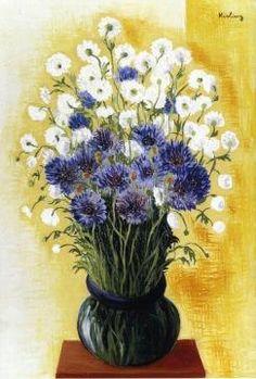 Bouquet of Corn Flowers by Moise Kisling