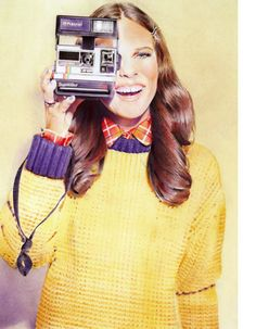 Photographs by Julia Kennedy then painted by Anna Roberts | Fashion | Vintage | Retro | Polaroid Camera | Painting | Illustration