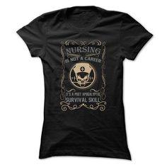 NURSING NOT A CAREER - #teacher shirt #oversized tshirt. WANT IT => https://www.sunfrog.com/LifeStyle/NURSING-NOT-A-CAREER.html?68278