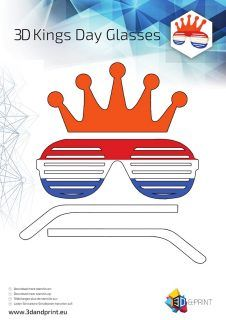 3D Stencil koningsdagbril-1