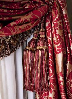 Tassels and drapery Drapes And Blinds, Drapes Curtains, Luxury Curtains, Beautiful Curtains, Unique Curtains, Elegant Curtains, Doors And Floors, Slab Doors, Swags And Tails
