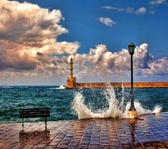 Chania harbor, Crete, Greece