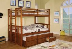 Crotone Twin Bunk Bed with Trundle