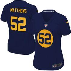 Women s Nike Green Bay Packers  52 Clay Matthews Elite Navy Blue Alternate  Jersey  109.99 c84a8bcb7