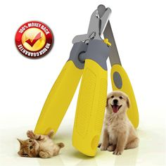 Trim-Pet Dog Nail Clippers ~ Professional Vet Quality ~ Razor Sharp Stainless Steel Blades With Safety Guard ~ Ergonomic Designed Handles For Easy Precise Cutting ~ Groom Small, Medium Or Large Dogs And Cats ~ Nail Trimmers Designed By Veterinarians ~ Trim Animal Nails With Total Confidence (FREE Bonus Nail And Claw File) 'Healthy Pet Grooming_Ž— LIFETIME Money Back Guarantee! * Awesome cat product. Click the image : Cat products