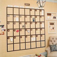 calendar idea for the home