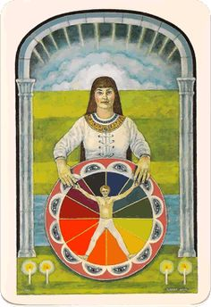 The Wheel of Fortune from the Jung Tarot deck