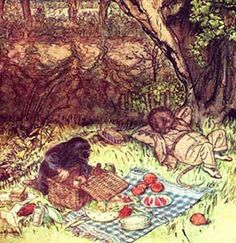 'The Ten Best Literary Picnics' selected by the Guardian. From 'To the Lighthouse' to 'Emma' and 'The Wind in the Willows' (pictured).