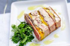 Terrine de foie gras poêlé, mangue, jambon de Bayonne et gelée de sauternes au poivre de Timut, les recettes de nos chefs