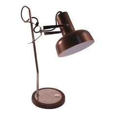 Fantastic desk lamp from Europe. It is chrome and brown enamel and takes a regular bulb. Tripod Lamp, Desk Lamp, Table Lamp, Island Pendant Lights, Pendant Lighting, Traditional Lamps, House Lamp, Arc Lamp, Torchiere Lamp
