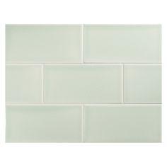 "Complete Tile Collection Vermeere Ceramic Tile - Lt. Celeste Green - Gloss, 3"" x 6"" Manhattan Ceramic Subway Tile, MI#: 199-C1-312-121, Color: Lt. Celeste Green"