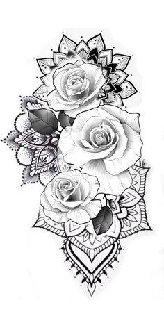 Neues Yakuza Damen More Flowers Shoulder Cut Shirt Schwarz