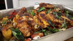 This smoky, garlicky roast chicken makes a brilliant weekend supper. Enjoy the convenience of the oven: you just bung everything in, and you& done. Vegetarian Barbecue, Vegetarian Cooking, Vegetarian Recipes, Healthy Recipes, Italian Cooking, Easy Recipes, Tapas Recipes, Clean Recipes, Cooking Recipes