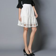 Find More Skirts Information about Elegant casual office white skirts women hollow out short lace down 2017 spring summer new arrivals work wear 1928LY,High Quality skirt vintage,China wear jean mini skirt Suppliers, Cheap wear jean from Elegant Times on Aliexpress.com