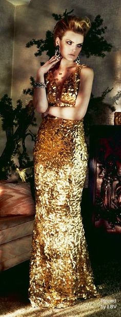 Black tie affair - gold gown