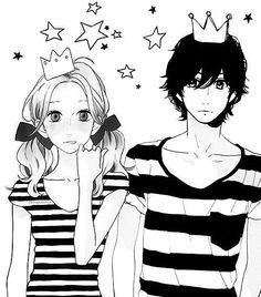 Hirunaka no Ryuusei ❤️❤️ Cutest manga~ Manga Couple, Anime Couples Manga, Cute Anime Couples, Manga Anime, Adorable Couples, Anime Love, Manga Love, Awesome Anime, Anime Cosplay