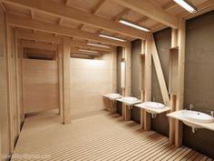 Public Toilet - interior night by zmoodel on DeviantArt Bathroom Stall, Bathroom Toilets, Washroom, Public Space Design, Restroom Design, Public Bathrooms, Toilet Design, Industrial Bathroom, House Design